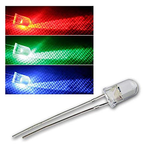 world-trading-net 20 LEDs 5mm wasserklar RGB langsam blinkend, RGBs, Leuchtdiode, bedrahtet, Diode Leuchtend, als Bauteil