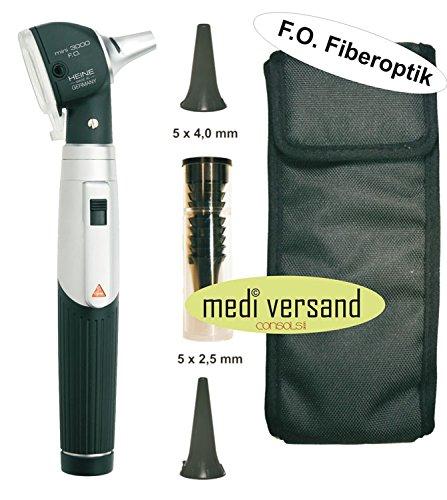 Heine Mini 3000 Otoskop mit Fiberoptik F.O. - schwarz + Tasche