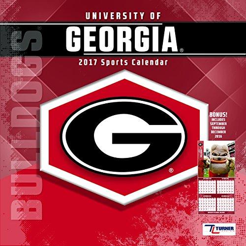 "Turner Licensing Sport 2017 Georgia Bulldogs Team Wall Calendar, 12""X12"" (17998011801)"