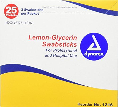 Dynarex Lemon Glycerin Swabs, 75 Count