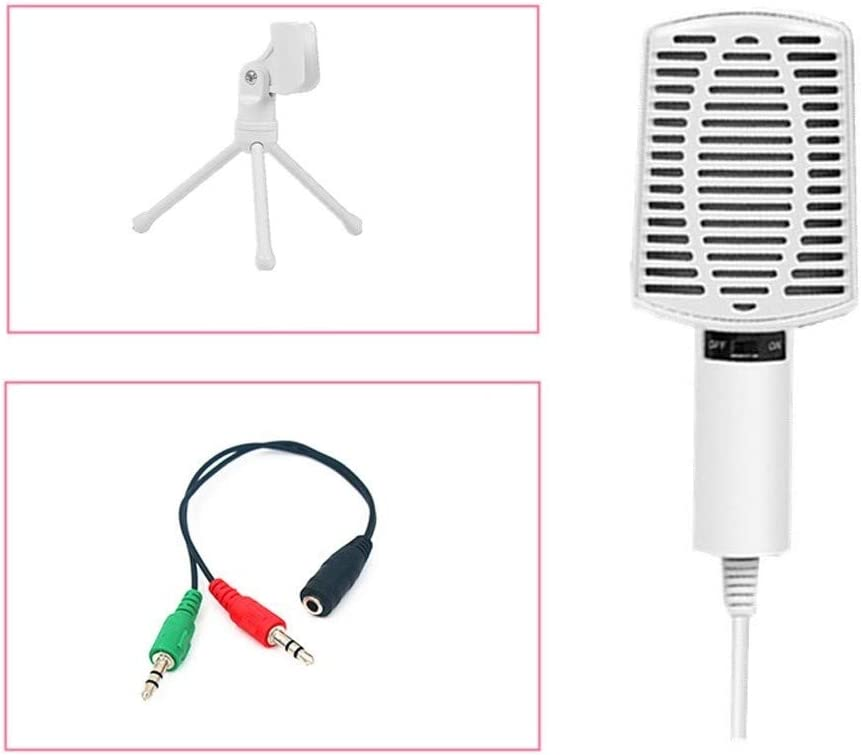 Size : Standard Four-Piece LEZDPP Computer Microphone Mobile Phone Universal Sound Card Set Live Broadcast Device Anchor Recording Microphone Full Set