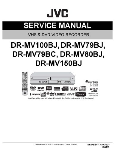 DR-MV100B AND DR-MV150BJ service manual