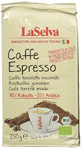 LaSelva Bio Caffè Espresso gemahlen, in Italien geröstet, 2er Pack (2 x 250 g)