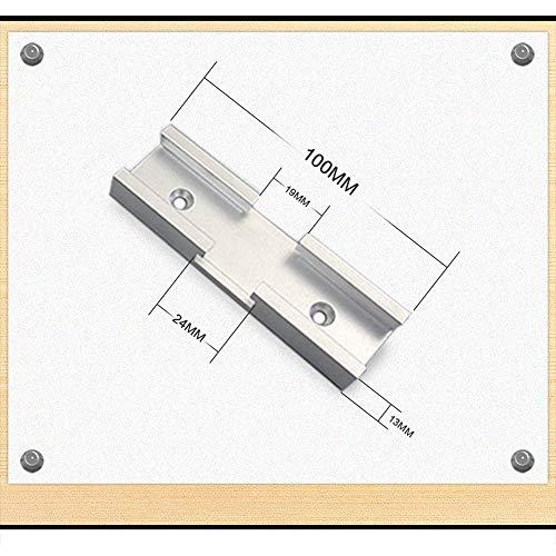 T-Schienen Gehrung, 30 Typ Holzschurre, Aluminiumschlitz Gehrungsschiene Spannvorrichtung Kanal Kreuzung für Tisch/Holzbearbeitungswerkzeug B 100mm cross 1PCS