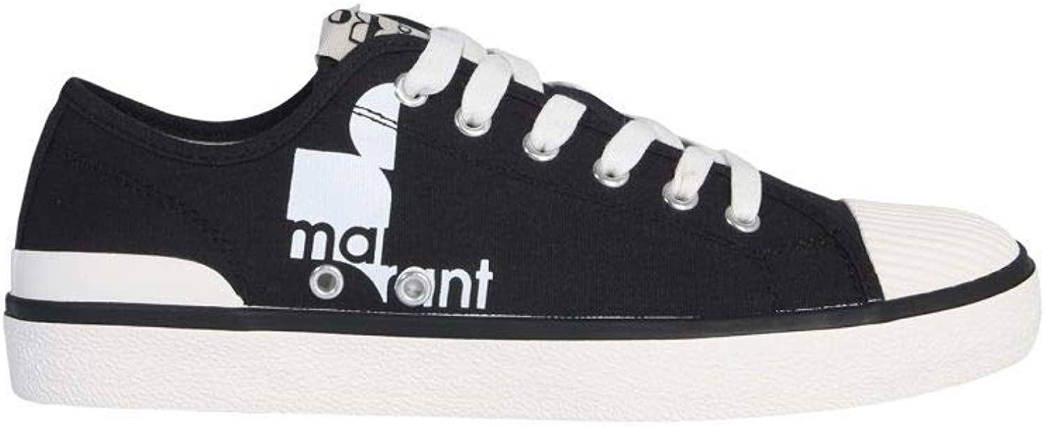 ISABEL MARANT éTOILE Women's BK006519P039S01BK Black Cotton Sneakers