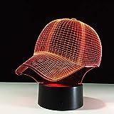 Gorra de béisbol lámpara de Mesa táctil luz Nocturna Tipo de Cambio de Color luz de sueño Sombrero acrílico Sombrero Deportivo lámpara de Mesa