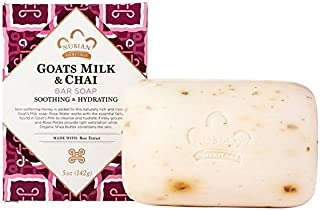 Nubian Heritage Soap Bar, Goats Milk and Chai, 5 Ounce (5 Pack)