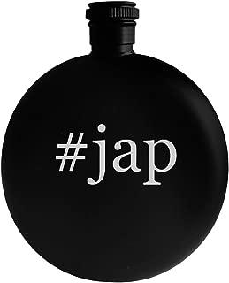 #jap - 5oz Hashtag Round Alcohol Drinking Flask, Black