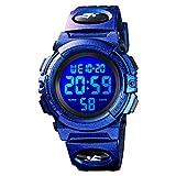 Boys Digital Watch Outdoor Sports 50M Waterproof Electronic Watches Alarm Clock 12/24 H Stopwatch Calendar Boy Girl Wristwatch - Purple