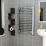 ASA Calentador de toallas de baño de lujo con calefacción central, calentador de toallas de baño, calefacción central, escalera de baño cromada (500 x 1200)