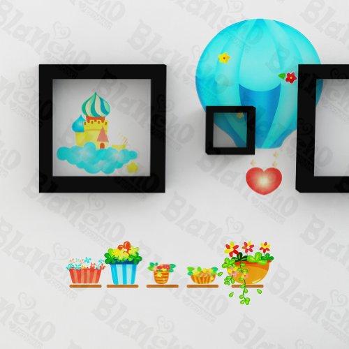 montgolfière Party- patchs rouge stickers muraux stickers décoration intérieure
