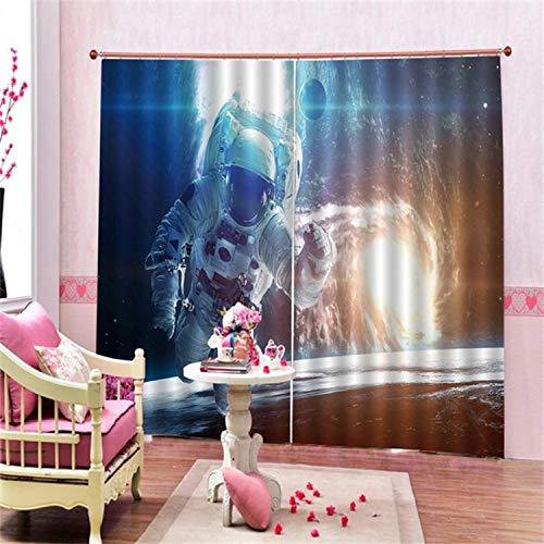 HAOTTP Fenêtre de de doublures de lit d'occultation de Rideaux 3D pour Le Ciel de la Chambre à Coucher H200xW200cm