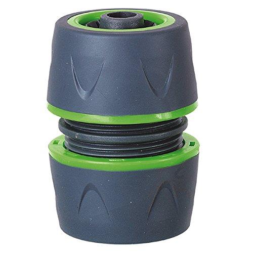 Raccord réparateur bi-matière universel pour tuyau d'arrosage Ø12, 15 et 19mm