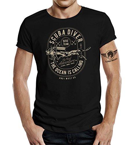 LOBO NEGRO Original Design, T-Shirt für...