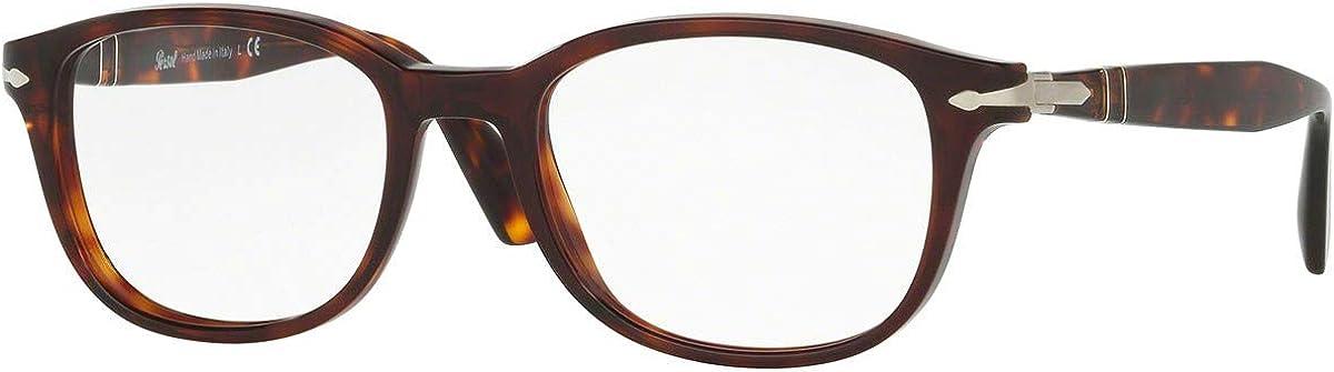 Persol PO3163V Eyeglasses 52-19-145 Havana w/Demo Clear Lens 24 PO3163-V PO 3163-V PO 3163V