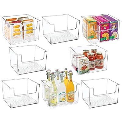 mDesign Plastic Food Storage Organizer Bin for Kitchen from