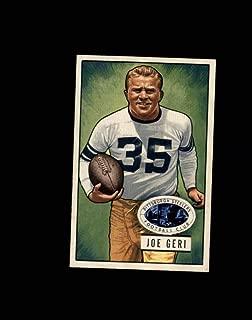 1951 Bowman Football #022 Joe Geri STARX 7 NM CS53097