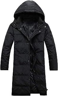 BININBOX Chaqueta de Plumas Hombre cálidas de invierno Abrigos Parka larga y gruesa con capucha desmontable
