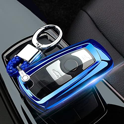 ZYHYCH Soft TPU Car Key Case Cover, Apto para BMW 520525 f30 f10 F18 118i 320i 1 3 5 7 Series X3 X4 M3 M4 M5 Key Shell, Azul, B