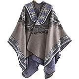 Ms. automne et hiver foulards chauds et confortables col national en cachemire châle manteau vent chaud - Gris - 130/150