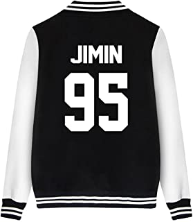 Tomsweet Unisex Fashion Baseball Jacket Kpop BTS Fans Suga Jin Jimin Jung Kook J-Hope V Rap Monster