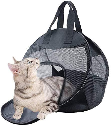 YYhkeby Tragbare Comfort PET Reise Tragetasche for kleine Katzen, Faltbare Transportbox Handtasche mit Polsterung (Schwarz) Jialele