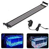 MLJ Luz LED Acuario para Acuario Clip De Soporte De Luz LED para Peceras,5 Tallas (para Acuario 95-115cm, Azul + Azul & Branco)