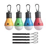 4 Stück LED Camping Lampen Zeltlicht Zeltlampe ,Camping Zubehör Leuchtmittel Lampe Zelt- - Wasserdicht - Camping Laternen für Fest,Draußen,Abenteuer,Wandern