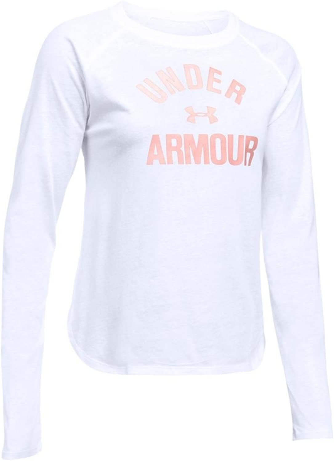 Women's Under Armour Tri-Blend Long Sleeve Graphic, 白い, X-Small