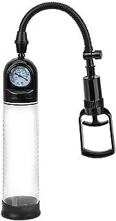 NOPNOG Penispomp met manometer - vacuümpomp in zwart en transparant - penis extender van ABS - masturbator voor mannen