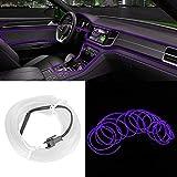 Bande lumineuse intérieure de voiture, bande lumineuse décorative de voiture moulage intérieur éclairage Auto LED EL pièces de Modification de lampe froide(Violet)