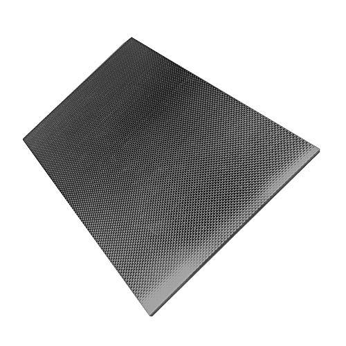 KKmoon Twill in Lastra di Fibra di Carbonio Strato del Pannello Piatto della Lastra della Fibra del Carbonio di Superficie Lucida Opaca del Tessuto 3K