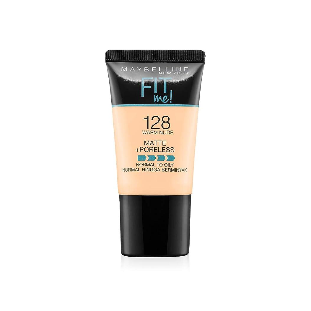 姓クック反逆者Maybelline New York Fit Me Matte+Poreless Liquid Foundation Tube, 128 Warm Nude, 18ml