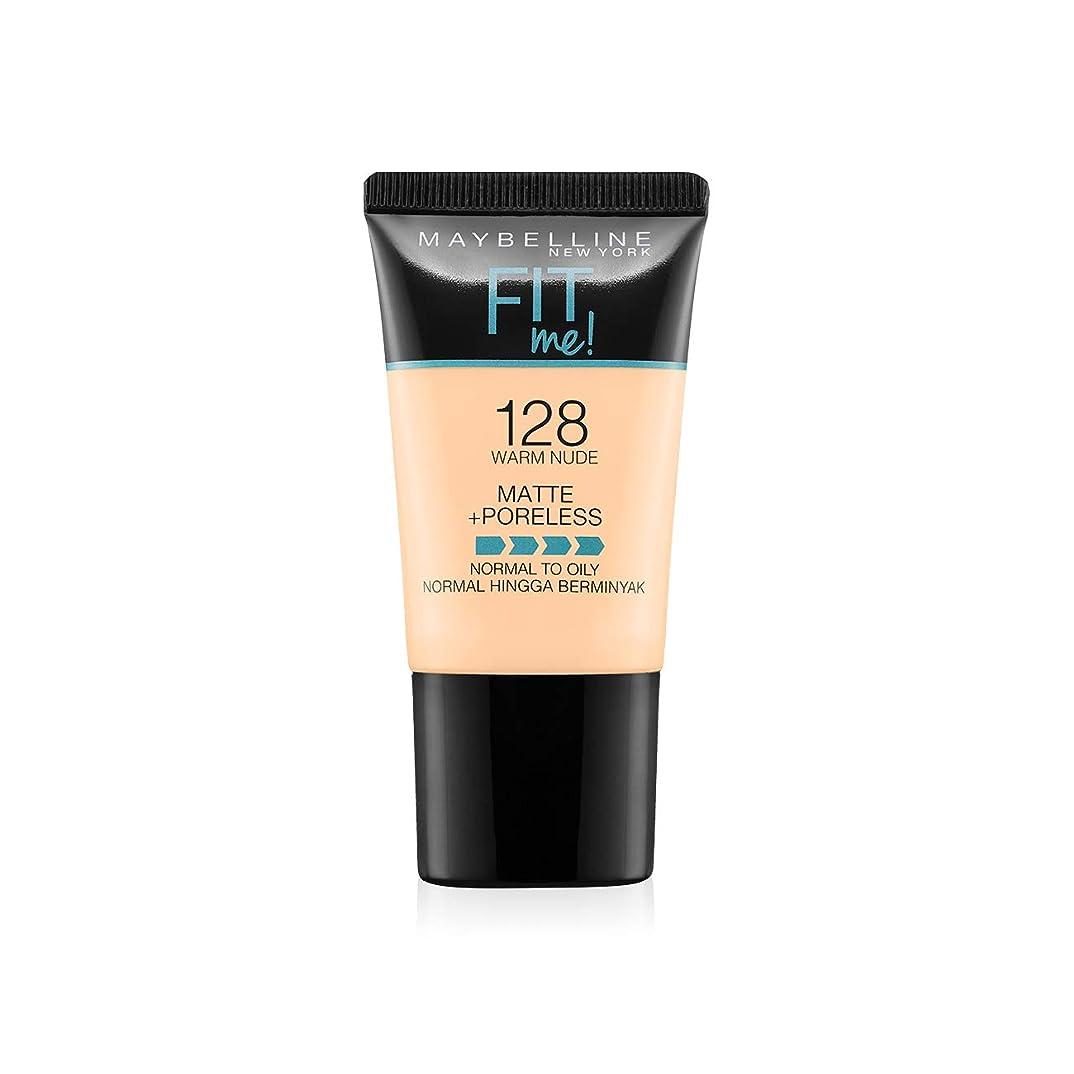 無関心約設定お父さんMaybelline New York Fit Me Matte+Poreless Liquid Foundation Tube, 128 Warm Nude, 18ml