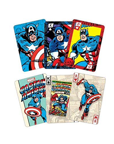 Official Captain America Playing Cards and Tin