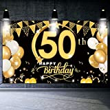 DANXIAN 50 Geburtstag Dekoration Schwarz Gold - Extra