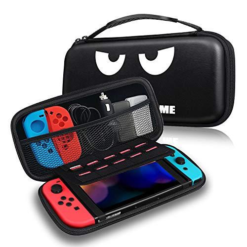 Fintie Tasche für Nintendo Switch - Tragetasche Aufbewahrungstasche Hülle Case mit 10 Spielkartenhaltern und Haltegurt für die Nintendo Switch Konsole Joy-Con & Accessoires, Don't Touch