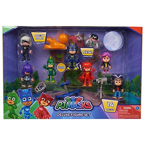 PJ Masks - Set di 16 personaggi Deluxe