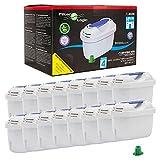 Filterlogic FL402H | Pack de 16 - Filtro de agua compatible con Brita Maxtra+ para Jarra con filtro Marella Style Aluna Elemaris Flow XL cool y TASSIMO