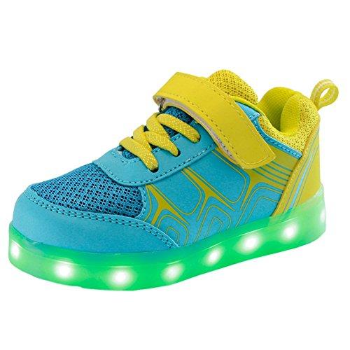 LED 7 Colori Cambi- Sneaker Scarpe Bambini Bambina Unisex Collo Basso Tennis, Presa USB Ricarica Sport Regali Originali Compleanno Natale Ragazza Ragazzi Scarpe Piatte