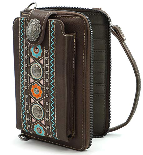 Montana West Crossbody Cell Phone Purse For Women Western Style Phone Bags Travel Size With Strap MWUSA-PHD-115CF