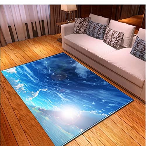 XIAIEWEI Alfombras nórdicas de Franela Suave 3D Galaxy Space Alfombras Impresas para habitación de niños Alfombras de área Grande Decoración para el Dormitorio del hogar 80 * 120 cm
