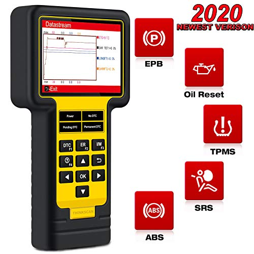 thinkcar Scan Tool TS600 OBD2 Scanner - ABS SRS Automotive Car Code Reader with Oil/EPB/TPMS Reset Service Car Diagnostic Tool, Turn Off Check Engine ABS SRS Warning Light