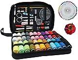 wxqym Kit de Costura 126 PCs, portátiles Set Viaje de Coser for la Edad, Suministros de Costura Profesional Incluye una Aguja, Hilo, Ripper, Botones, dedal for Bricolaje/Emergencia/Principiante