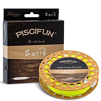 Piscifun Sword Weight Forward Floating Fly Fishing Line with Welded Loop by Piscifun
