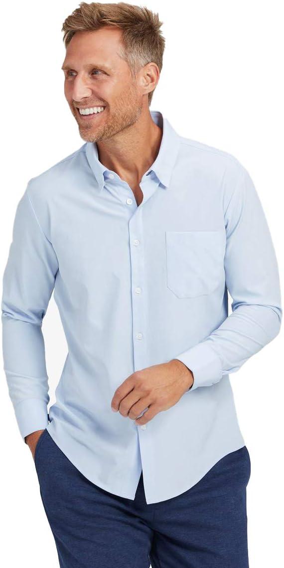 Mizzen + Main Men's Leeward Trim Fit Long Sleeve Shirt