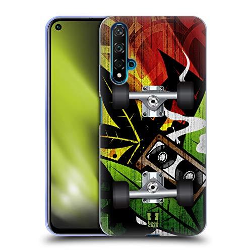 Head Case Designs Reggae Patinetas Carcasa de Gel de Silicona Compatible con Huawei Nova 5T