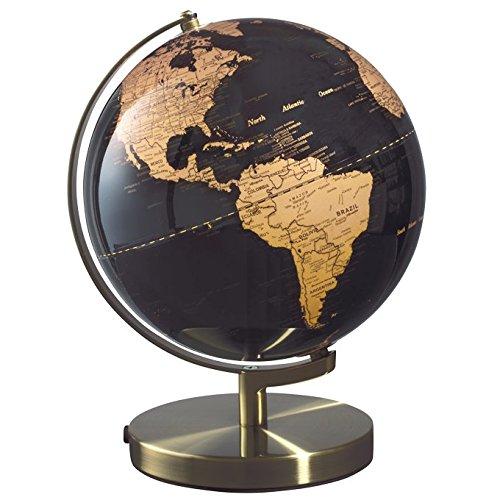 Mascagni Globus Globe Kupfer auf Hintergrund Schwarz D 30cm beleuchtet Licht