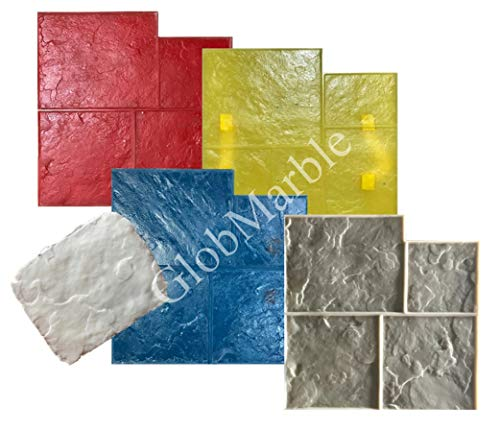 GlobMarble 5 Piece Ashlar Slate Stone Stamp Set SM 3001