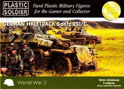 15mm WW2 German SdKfz 251 Ausf C Halftrack
